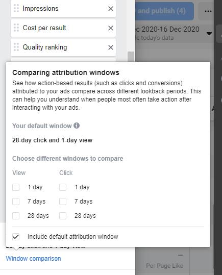 Comparing Facebook Attribution Windows
